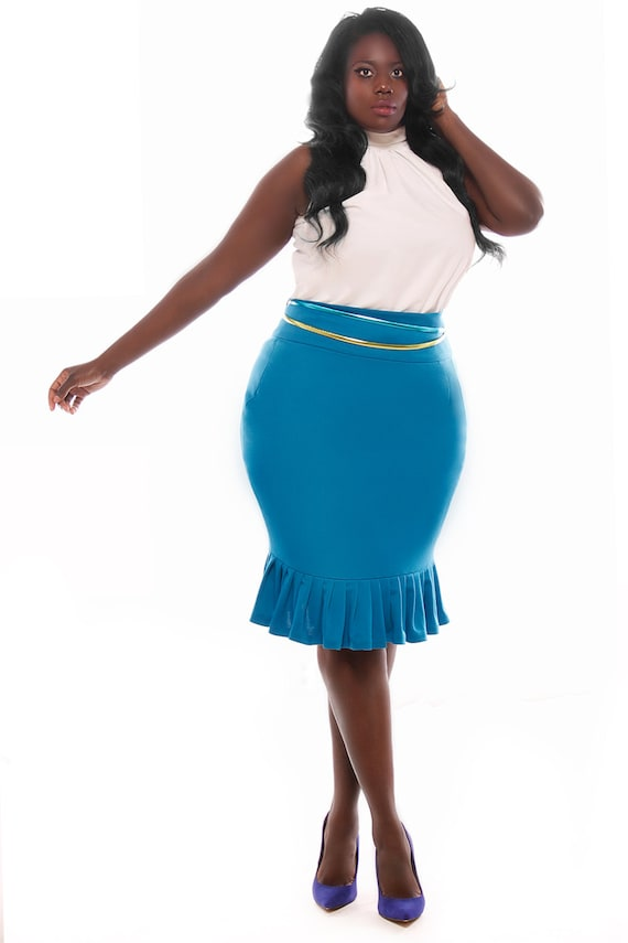 items similar to jibri plus size high waist pencil skirt w