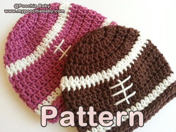 Pattern Baby Football Beanie Hat By Poochiebaby On Etsy