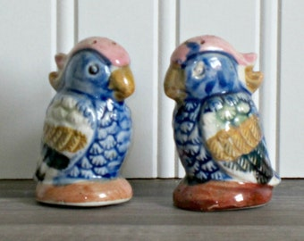 Colorful Bird Salt and Pepper Set
