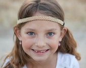 Ciara in Gold - Gold Celtic Knot Braided Adjustable Headband