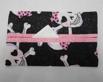 Fashionable Skull Tissue Cozy/Gift Card Holder/Party Favor/Wedding Favor
