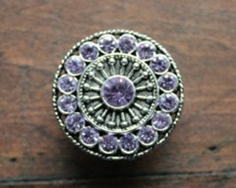 Purple Crystal Drawer Knobs - Purple Furniture Knobs (MK113S-03)