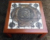 Vintage Danish Abstract Art Tile Ox-Art 1977 Tables