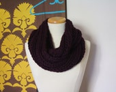 Super chunky infinity scarf in eggplant