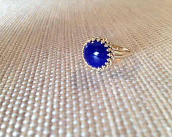 ON SALE!!! 14K Gold and Lapis ring was 500!!