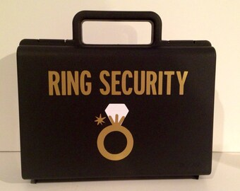 Ring Bearer Briefcase, Ring Security Briefcase, Ringbearer Gift, Ring Security Box, Ring Bearer Case, Ring Bearer Pillow Alternative,