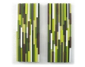 Green Abstract Art, Abstract Wood Sculpture, Home Decor, Wall Hanging, Wood Art
