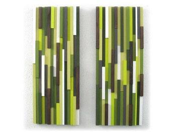 Green Abstract Art, Abstract Wood Sculpture, Home Decor, Wall Hanging, Wood Art