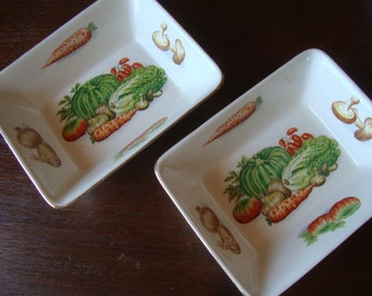 Kitschy Vintage Relish Dishes - Set of Two