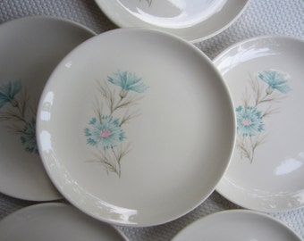 Vintage Taylor Smith Taylor Ever Yours Boutonniere Bread and Butter Plates