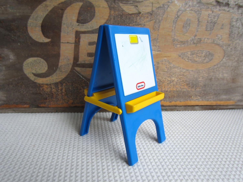 Vintage Little Tikes Art Easel Chalkboard Dollhouse Furniture
