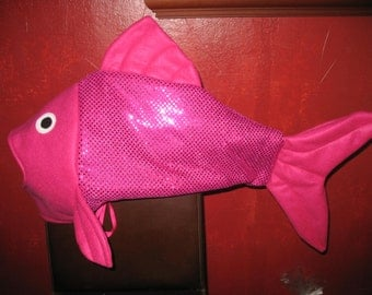 Hot Pink sequin fish costume-one size fits all