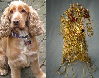 Custom Pet Portrait, Custom Dog Portrait,  Pet loss Gift, Personalized Dog Ornament, Wire Art , Custom Dog Art Gift, Metal Dog Statue