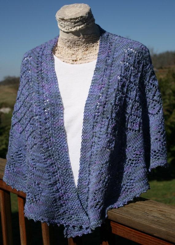 Pattern Hand Knit Shawl Faroese Shawl Pattern Eyelet