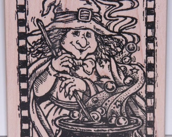 ON SALE  Witch Stamp