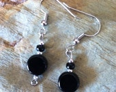 Black and Silver Bead Earring Set (805)