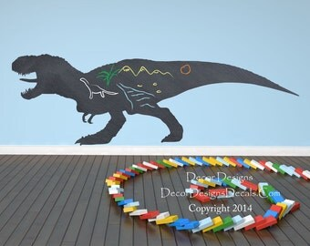 Dinosaur Chalkboard Vinyl Wall Decal Sticker