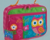 Stephen Joseph Child's TEAL OWL Themed Lunchbox Personalized For Free