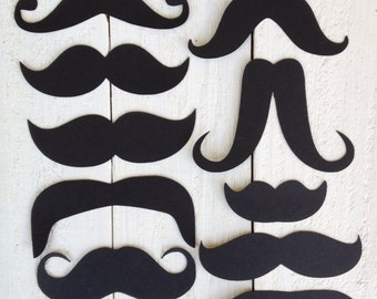 Mustache Die Cuts Photo Booth Assortment Black