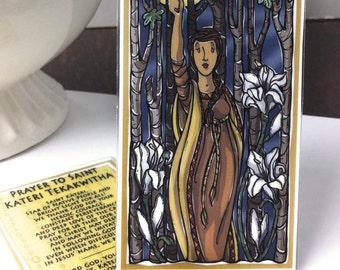 St. Kateri Tekakwitha Prayer Card