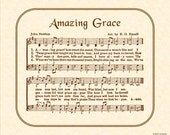 AMAZING GRACE Hymn Art Custom Christian Home Decor VintageVerses Sheet Music Inspirational Wall Art When We've Been There Ten Thousand Years