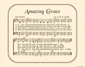 Amazing Grace Wall Decor amazing grace hymn art custom christian home decor