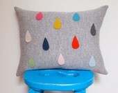 Rain Drop Cushion Made With 100% Soft Lambswool