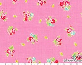FLOWER SUGAR 2013 Japanese, Lecien, Petite Roses in Pink, 1/2 yard