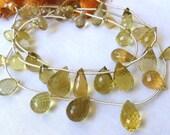 AA Honey Quartz Briolettes - Faceted Full Teardrops - Focal Beads (4w80)