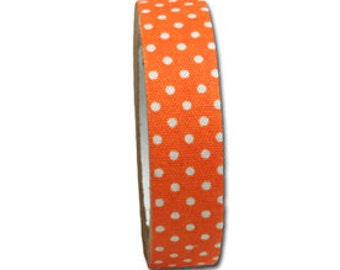 Candy Dot Fabric Tape Clementine Orange by Maya Road