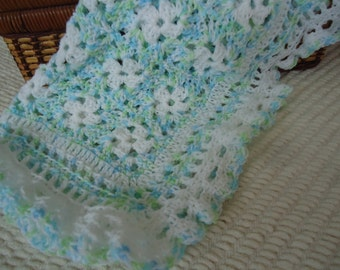 Afghan Lovie Baby Blue Softie for Boys
