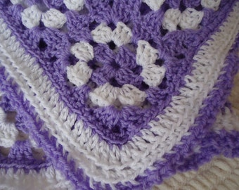 Little Lavender Purple Baby Girl Crib Blanket