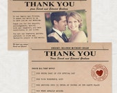 vintage telegram thank you card - printable file