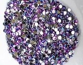 1000 Round Faceted Flat Back Rhinestone SS6 2mm Violet Purple AB  FREE Combine Shipping US Iphone Case LR262