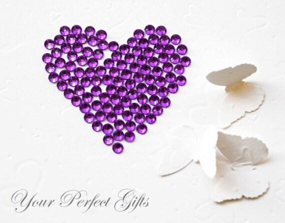 500 pcs Round Faceted Flat Back Rhinestone 5mm Bling Amethyst Violet Dark Purple FREE Shipping US Embellishment Nail Art LR045