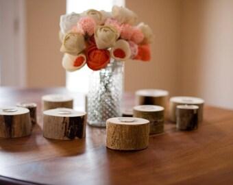 Rustic tea light holder, wood candle holder, branch tea light holder