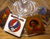 Grateful Dead Album Cover Wine Charms for the Music/Wine Lover 'YOUR wine glasses deserve COOL Sassy Jewelry' Fast Shipping