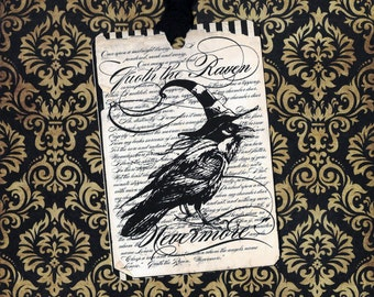 Halloween, Raven Tags, Nevermore, Raven Tags, Halloween Tags, Party Favors