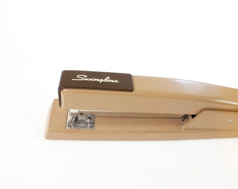 Vintage brown mid century Swingline stapler