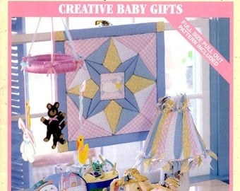 Creative Baby Gifts Quilting Sewing Wall Hanging Baby Bib Headband Crib Mobile Lamp Shade Photo Album Nursery Décor Craft Pattern Leaflet