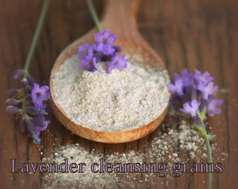 Organic Lavender Facial Cleansing Grains scrub polish Vegan SAMPLE