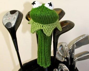 Kermit the Frog, Golf Club Cover, The Muppets, Muppets, Golf Headcovers, Golf Head Cover, Rainbow Connection,