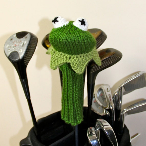 Knitting Pattern Golf Driver Cover : Kermit the Frog Golf Club Cover The Muppets Muppets Golf