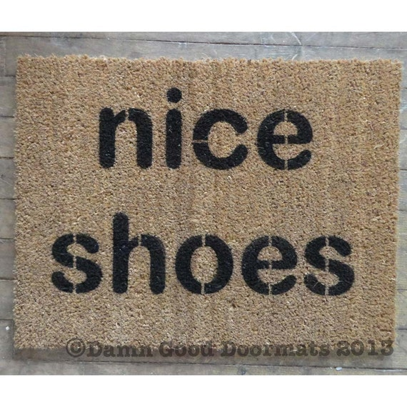 Two Lines Nice Shoes Doormat By Damngooddoormats On Etsy