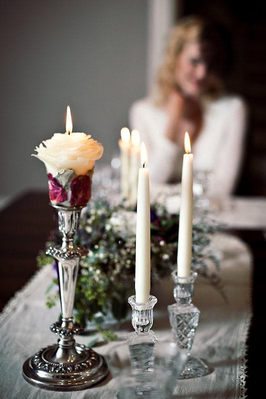 Rose Wedding Unity Candle Set Romantic Wedding Ceremony