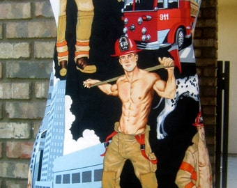 """Chef Apron - Firemen """"Ready for Action"""" Apron."""