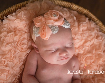 Baby Headband,Baby flower headband,Newborn Headband,Flower Headband,Infant Headband,Baby Girl Headband,Photo PropRosemarie Headband