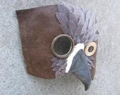 Brown masquerade bird mask, Steam Harrier