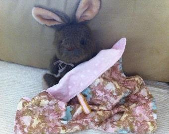 """Luxe Minkee Lovee Security Blanket Pink Gold Lt Turqu 18x18"""""""