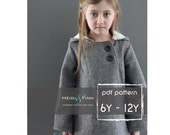 Chic Cocktail Swing Coat pattern and tutorial 6 - 12y holiday jacket PDF
